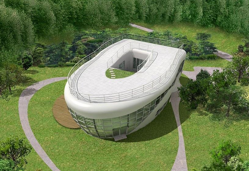 Co może mieścić się w budynku w kształcie muszli klozetowej? /East News