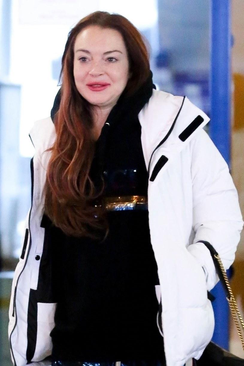 Co się stało z twarzą Lindsay Lohan? /Agencja FORUM
