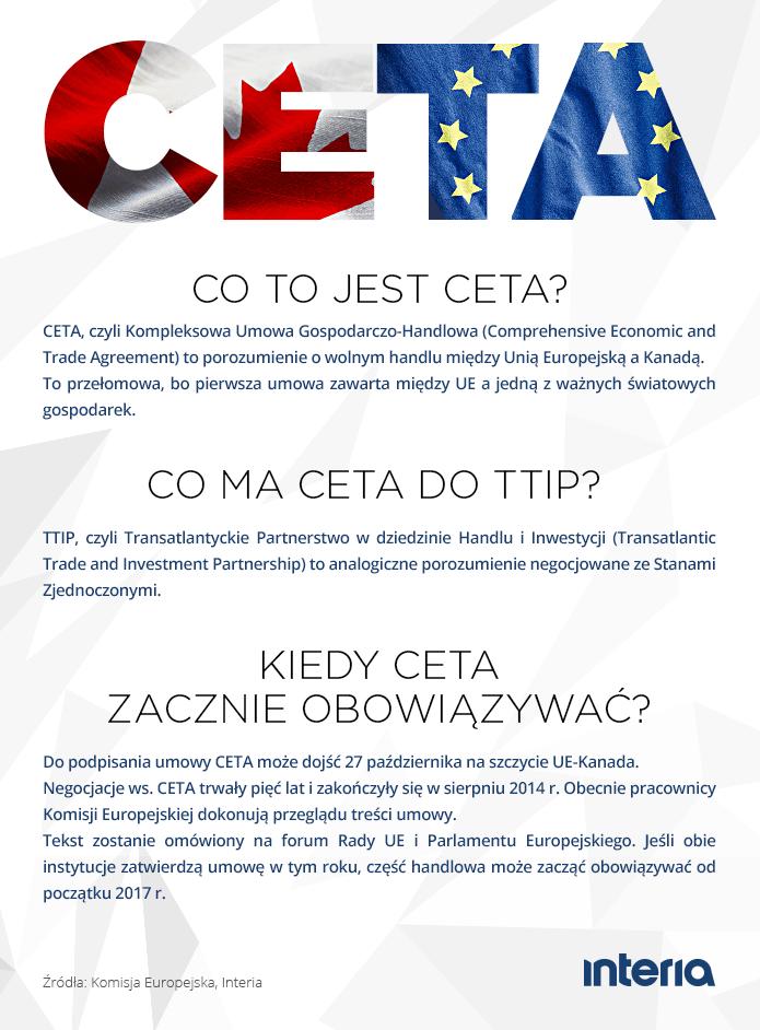 Co to jest CETA? /INTERIA.PL