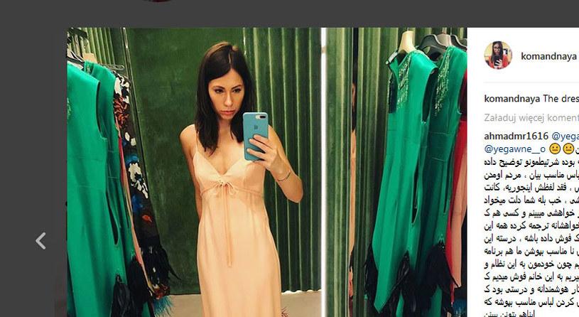 Co założy Maria Komandnaja? / fot. Instagram /