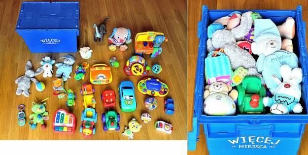 """Co zmieści się w """"wirutalnym"""" pojemniku? Na przykład 30 dużych zabawek dziecięcych /materiały prasowe"""