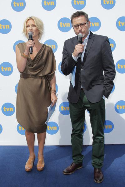 Konferencję, na której zaprezentowano nową ramówkę TVN, poprowadzili Magda Mołek i Andrzej Sołtysik