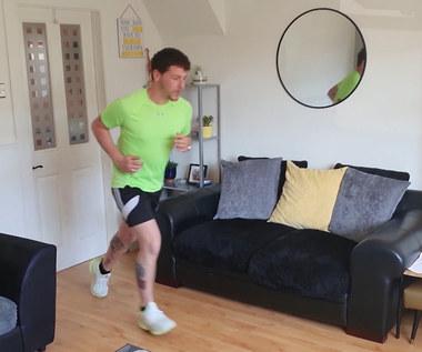 Col Bignel przebiegnie maraton we własnym pokoju. Wideo