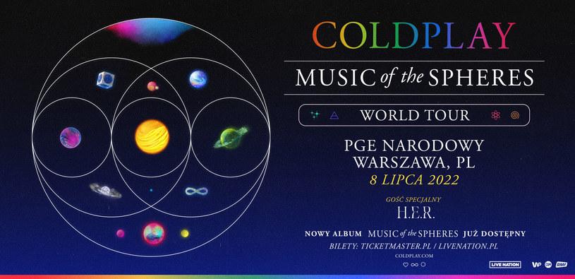 """Coldplay wystąpi w ramach trasy """"Music of the Spheres World Tour"""" /Materiał prasowy /materiały prasowe"""