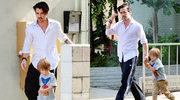 Colin Farrell na spacerze z małym Henrym Tadeuszem