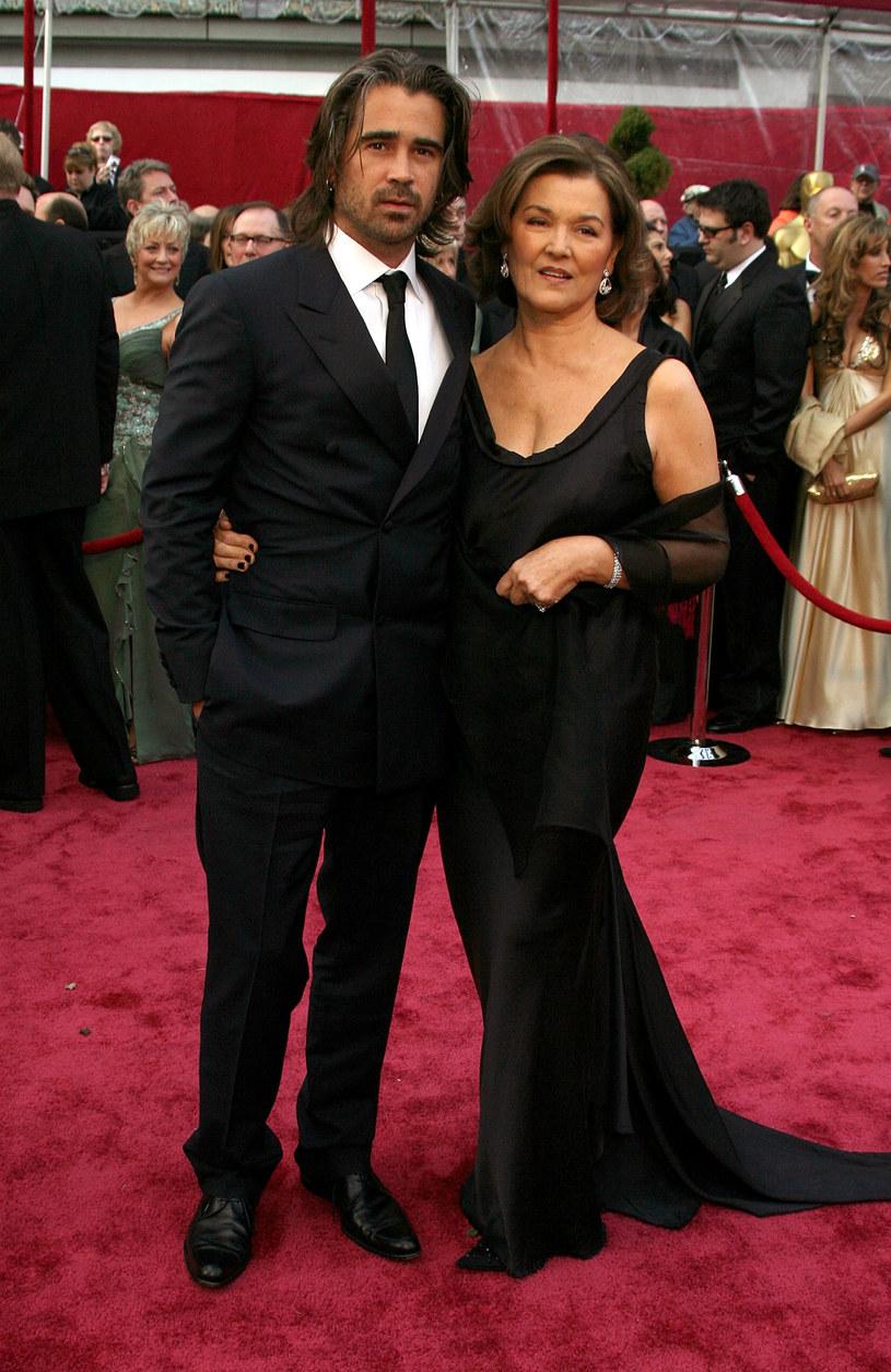 Colin Farrell z mam a Ritą Farrell /Getty Images