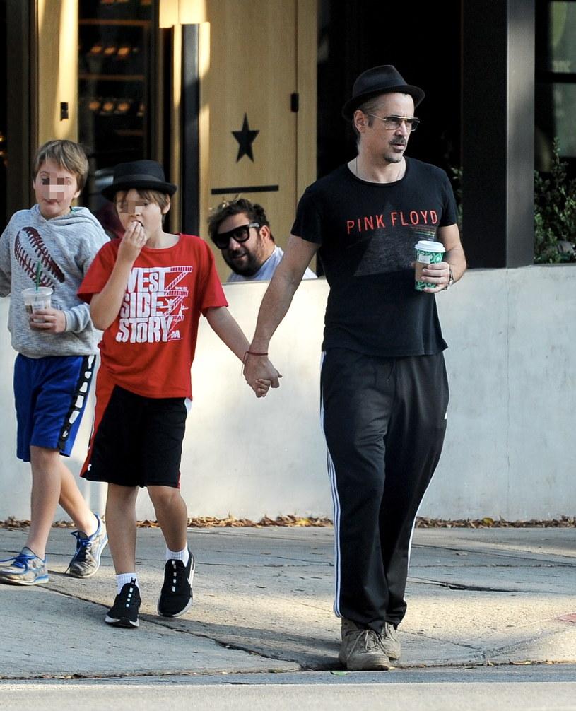 Colin Farrell z synem Henrym /Agencja FORUM