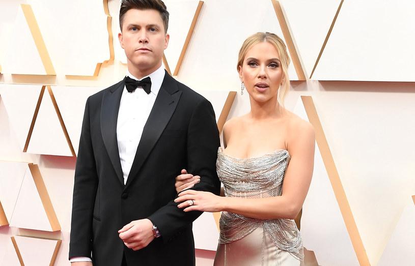 Colin Jost i Scarlett Johansson na gali Oscarów /Steve Granitz /Getty Images