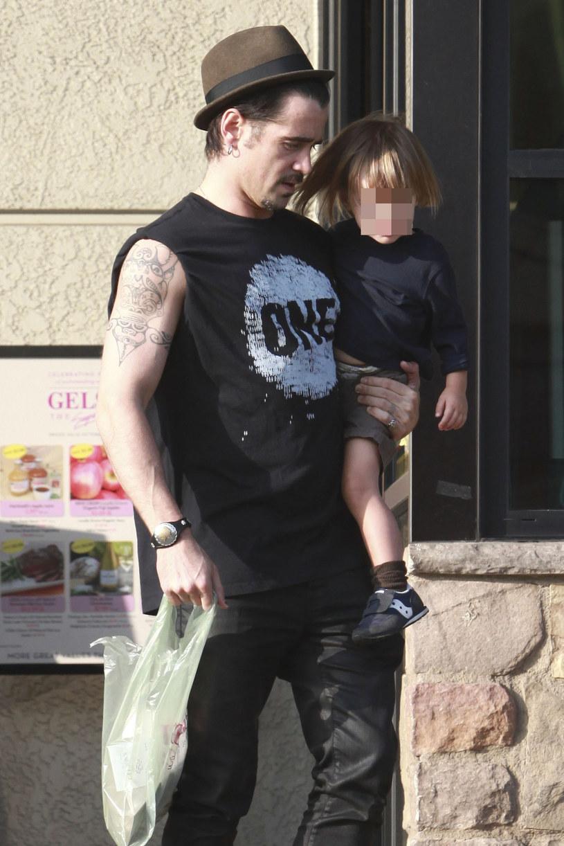 Colin z synem /- /East News