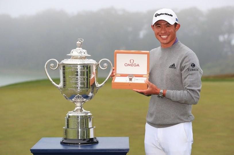 Collin Morikawa triumfuje /AFP
