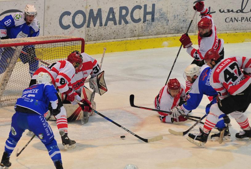Comarch Cracovia grała z Unia Oświęcim /Sławek Chojnacki /INTERIA.PL