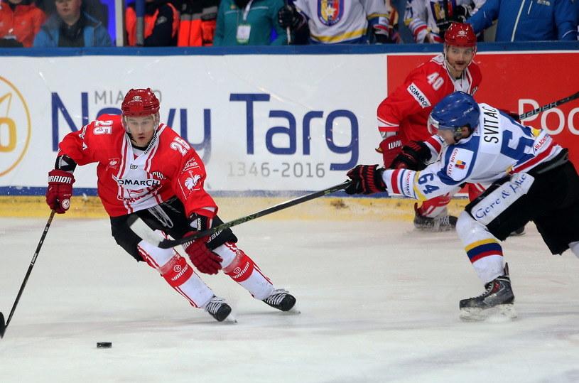 Comarch Cracovia w starciu z TatrySki Podhalem /Grzegorz Momot /PAP