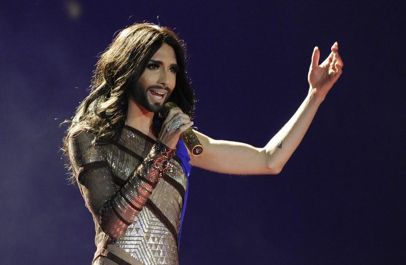 Conchita Wurst na festiwalu Eurowizji /AFP