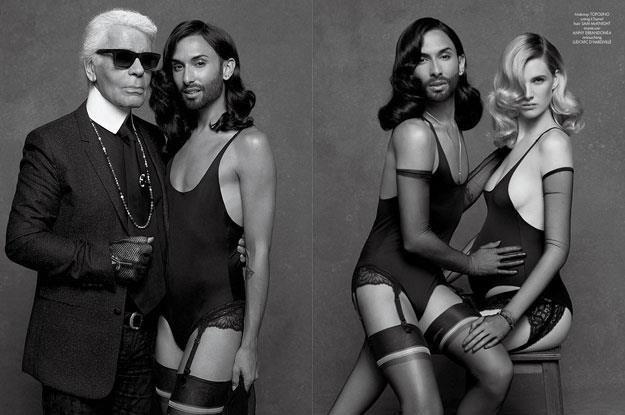 """Conchita Wurst w sesji zdjęciowej dla """"CR Fashion Book"""" /"""