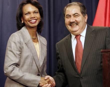 Condoleezza Rice i Hosziar Zebari /AFP