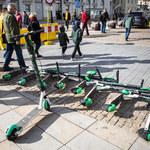 Coraz więcej wypadków z udziałem elektrycznych hulajnóg