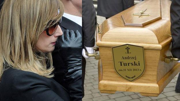Córka Andrzeja Turskiego, Urszula Chincz, na pogrzebie taty - fot. M.Jagielski, East News /AKPA