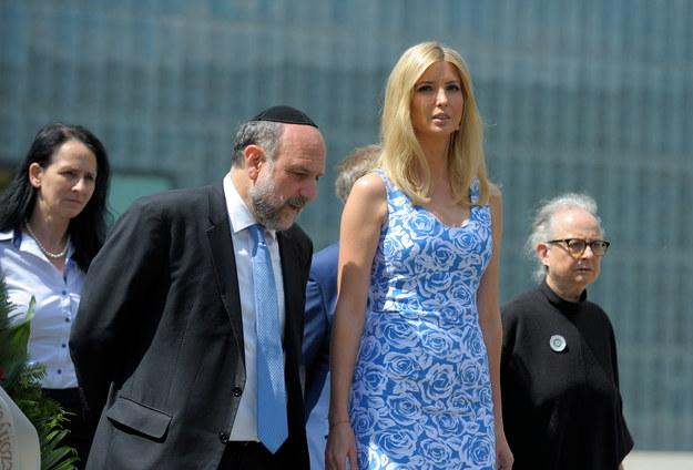 Córka prezydenta Stanów Zjednoczonych Ivanka Trump i Naczelny Rabin Polski Michael Schudrich /Przemysław Piątkowski /PAP
