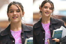 Córka Toma Cruisa spaceruje ulicami z odkrytym pępkiem. Ale wyrosła!