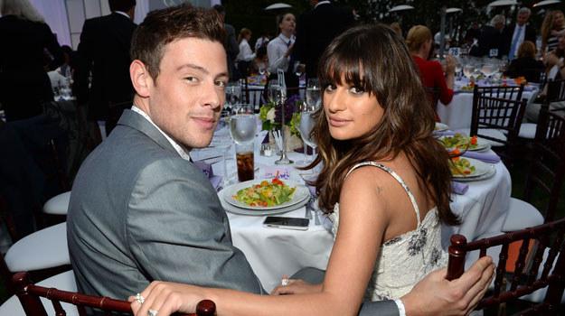 """Cory Monteith i jego dziewczyna, Lea Michele - oboje byli gwiazdami serialu """"Glee"""" /Michael Buckner  /Getty Images"""