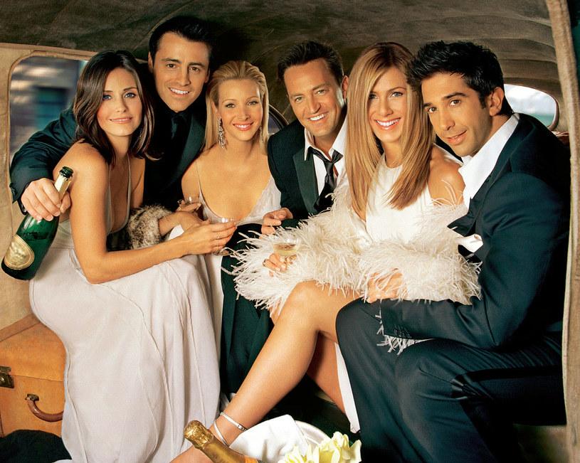 Courteney Cox (Monica), Matt LeBlanc (Joey), Lisa Kudrow (Phoebe), Matthew Perry (Chandler), Jennifer Aniston (Rachel) i David Schwimmer (Ross) stworzyli jedną z najbardziej zgranych aktorskich ekip wszech czasów /Świat Seriali
