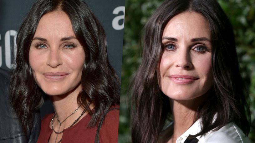 Courtney Cox w 2015 i 2017 roku /Charley Gallay/Rich Fury /Getty Images