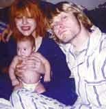 Courtney Love i Kurt Cobain wraz z córką Francis Bean /