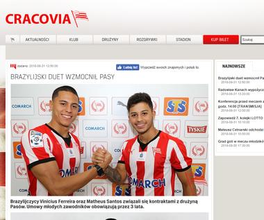 Cracovia. Dwóch Brazylijczyków podpisało kontrakty z klubem
