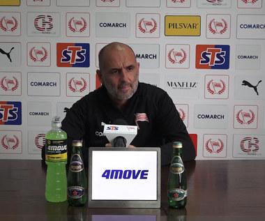 Cracovia. Michał Probierz: Jak jest spokojnie, to za chwilę coś wybuchnie. Wideo
