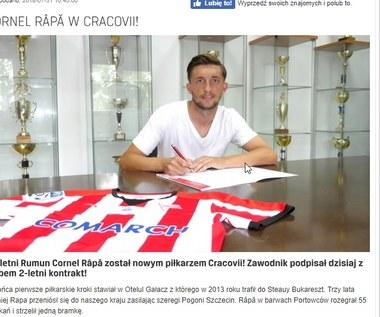 Cracovia. Nowym piłkarzem został Rumun Cornel Rapa