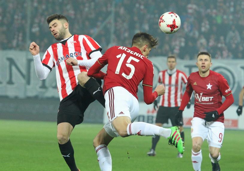 Cracovia przegrała derby z Wisłą Kraków 1-4 /Stanisław Rozpędzik /PAP