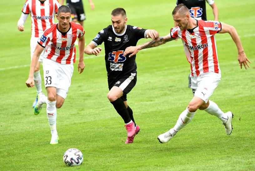 Cracovia przegrała z Jagiellonią 1-2 /Jacek Bednarczyk   /PAP