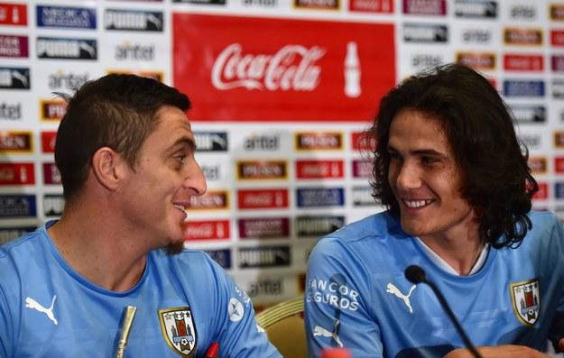 Cristian Rodriguez (z lewej) i Edinson Cavani /AFP