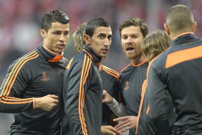 Cristiano Ronaldo, Angel Di Maria i Xabi Alonso /AFP
