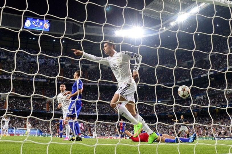 Cristiano Ronaldo cieszy się po strzeleniu gola dla Realu Madryt /AFP