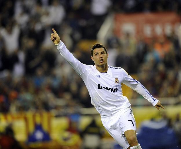 Cristiano Ronaldo cieszy się po strzeleniu gola /AFP