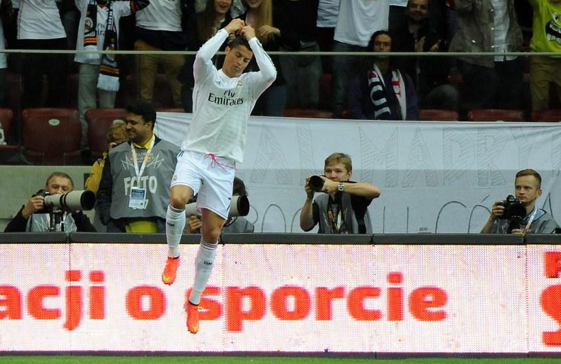 Cristiano Ronaldo cieszy się z gola /Bartłomiej Zborowski /PAP
