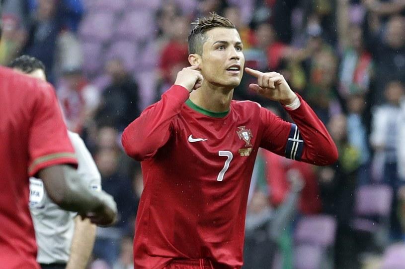 Cristiano Ronaldo cieszy się ze zdobycia gola podczas meczu z Chorwacją /PAP/EPA