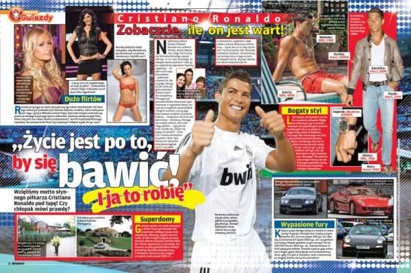 Cristiano Ronaldo dokładnie prześwietlony przez Bravo. /INTERIA.PL