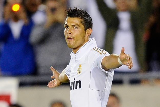Cristiano Ronaldo fetuje gola strzelonego Los Angeles Galaxy /AFP