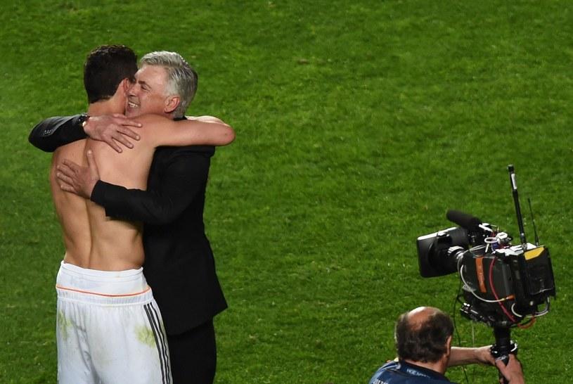Cristiano Ronaldo i Carlo Ancelotti po wygraniu Ligi Mistrzów /AFP