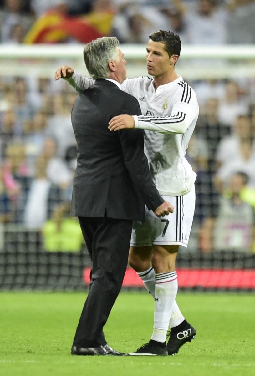 Cristiano Ronaldo i Carlo Ancelotti /AFP