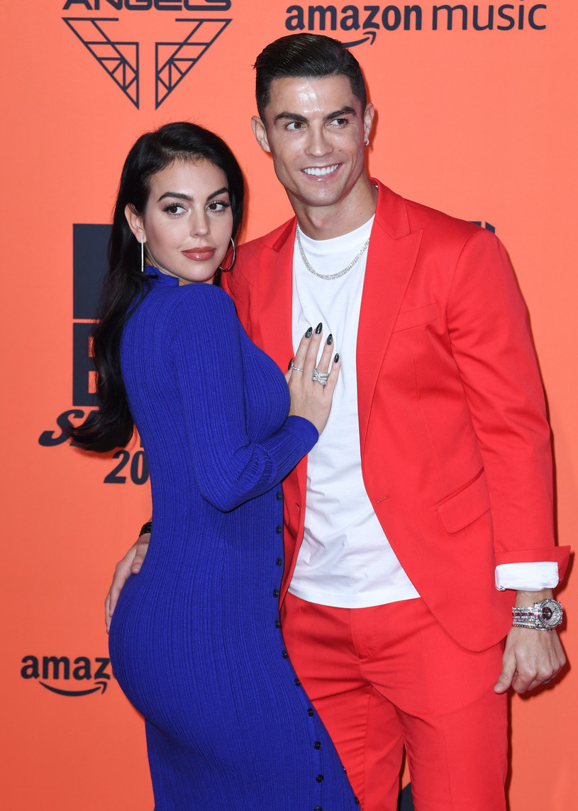 Cristiano Ronaldo i Georgina Rodriguez podczas gali MTV Europe Music Awards 2019 /Doug Peters/Press Association/ /East News