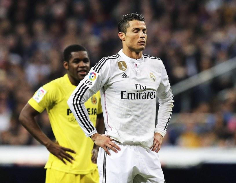 Cristiano Ronaldo i jego koledzy stracili punkty w meczu z Villarreal /PAP/EPA