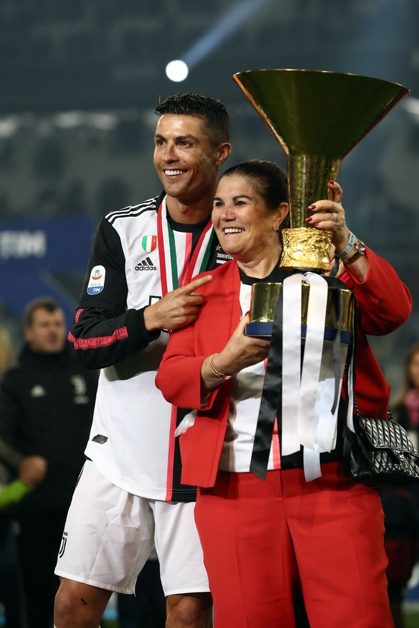 Cristiano Ronaldo i jego matka Maria Dolores /AFP