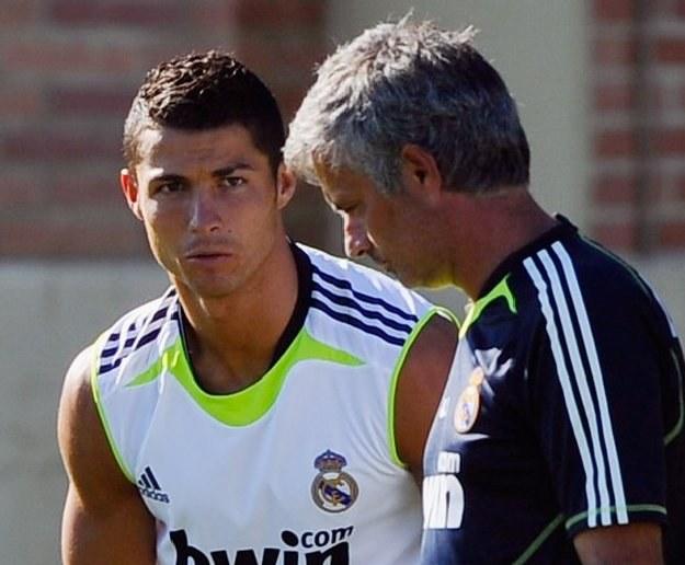 Cristiano Ronaldo i Jose Mourinho /AFP