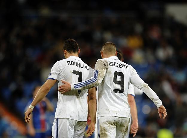 Cristiano Ronaldo i Karim Benzema strzelili po trzy gole Levante /AFP