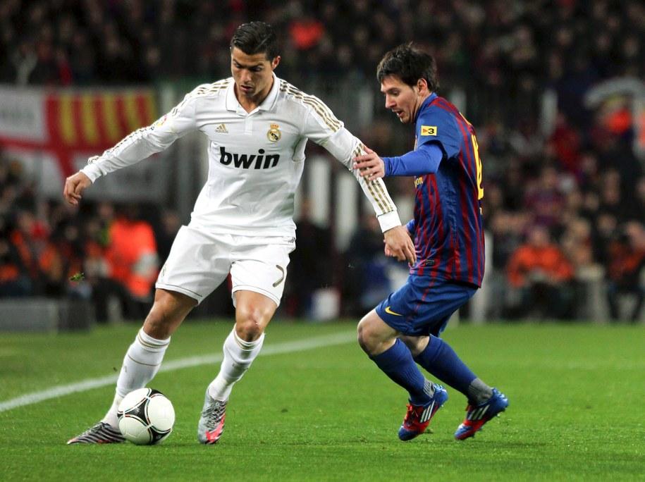 Cristiano Ronaldo i Lionel Messi /fot. Toni Albir /PAP/EPA