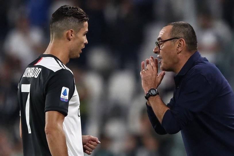 Cristiano Ronaldo i Maurizio Sarri /AFP