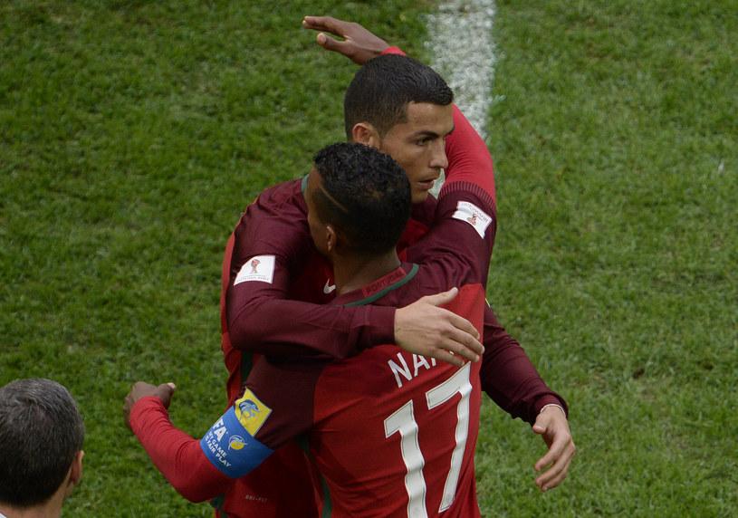 Cristiano Ronaldo i Nani w barwach reprezentacji Portugalii /Olga Maltseva /AFP